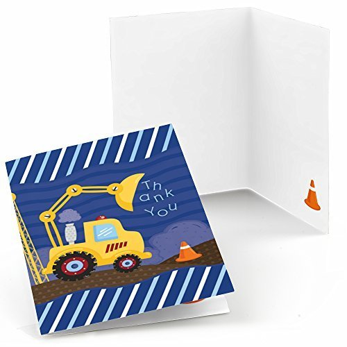 Construction Truck Party Thank You Cards (8 Count)