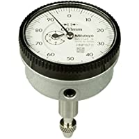 Mitutoyo 1160T Series 1 Back Plunger Dial Indicator, Metric, 5 mm/1 mm Range/Per Rev, 0-100 Reading, 0.01 mm Graduation preiswert