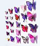 12pcs 3D Art Butterfly Decal Wall Sticker Home Decor Room Decoration (Multi) Bild