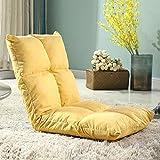 Divano pigro poltrona singola tatami divano letto balcone camera da letto piccolo divano letto singolo poltroncina multifunzione sul letto pieghevole morbida e confortevole ( Color : Yellow )