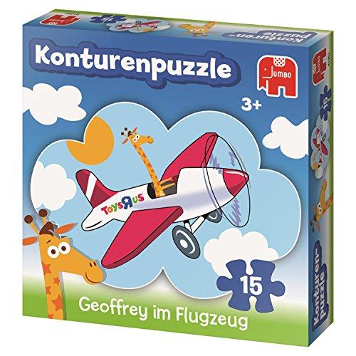 Toysrus Jumbo Geoffrey im Flugzeug Konturenpuzzle Puzzle Toys R US 15 Teile