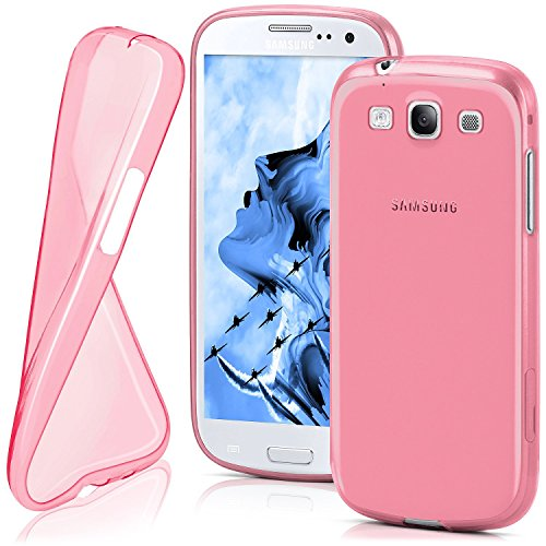 Cover di protezione Samsung Galaxy S3 / S3 Neo Custodia Case silicone sottile 0,7mm TPU | Accessori Cover cellulare protezione | Custodia cellulare Paraurti Cover Traslucida Trasparente BERRY-FUCHSIA