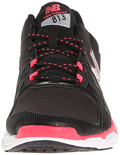 New Balance  WX813 B V3, Chaussures de fitness pour femme Black with Bright Cherry