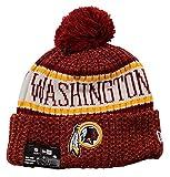 New Era NFL Sideline Bobble Knit 2018/2019 Season Beanie (Washington Redskins)