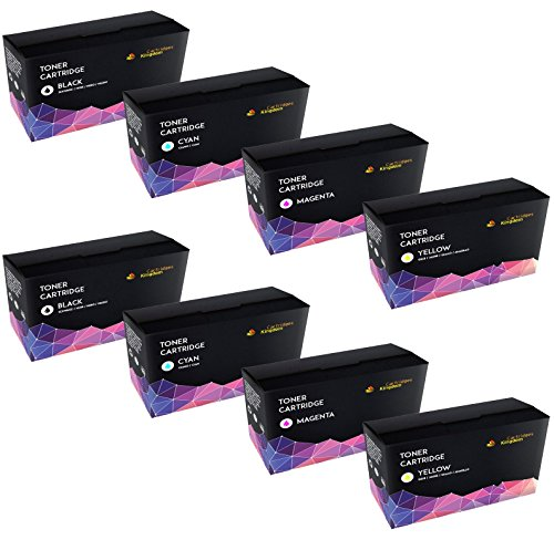 Cartridges Kingdom Pack of 8 Compatible Toner Cartridges Replacement for HP CF400A CF401A CF403A CF402A / 201A | suitable for HP Color LaserJet Pro M252dw, M252n, MFP M277dw, MFP M277n (2 Black, 2 Cyan, 2 Magenta, 2 Yellow) on Line