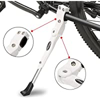 Caballete Lateral Ajustable,soporte de bicicleta de aleación ajustable MTB con pie de goma antideslizante