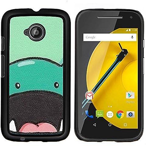 Copertura di plastica Shell Custodia protettiva || Motorola Moto E ( 2nd Generation ) || dinosauro animale sveglio disegno a fumetti @XPTECH - Sveglio Del Dinosauro
