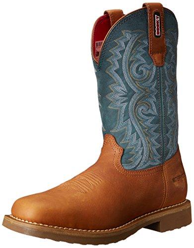 Rocky Boots Stiefel BARNTEC RKW0127 wasserdichter Westernreitstiefel Brown Teal (Weite M)