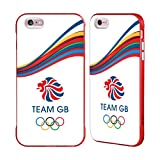 Official Team GB British Olympic Association Fluid Bands 2 Rio Red Fender Case for iPhone 6 Plus/iPhone 6s Plus