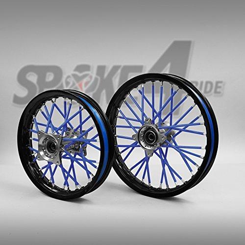Speichencover Blau - Spoke Tubes - Speichen Cover - Speichen Überzug- Spoke Skins Motocross Enduro-Felgen Rad Motorrad