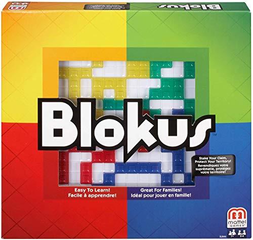 Mattel Games BJV44 - Blokus Strategiespiel und Gesellschaftsspiel, geeignet für 2 - 4 Spieler, Spieldauer ca. 20 - 40 Minuten, Brettspiele ab 7 Jahren