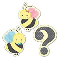 Big Dot of Happiness What Will It Bee - DIY Shaped Gender Reveal Cut-Outs - 24 Count