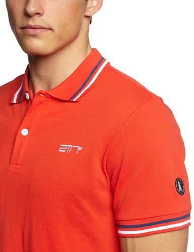 2117 of Sweden Herren Poloshirt Piquet Man Emmaboda Red