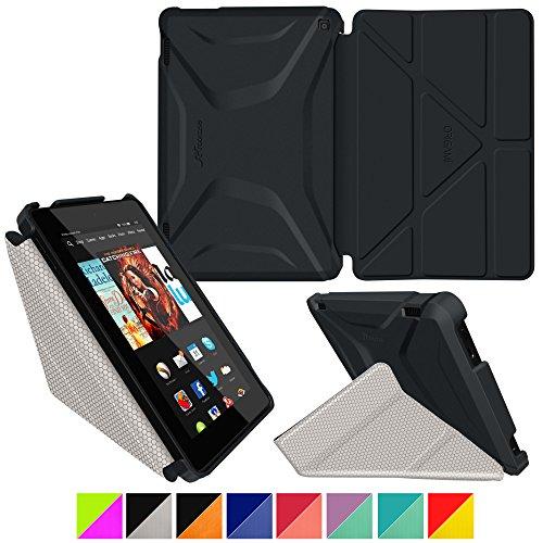 rooCASE RC-FIRE-HD714-OG-SS-GB/CG Tablet-Schutzhülle, Fire HD 7 (2014) 4th Gen, Origami 3D Granite Black/Gray, Stück: 1 Belkin Leather Folio-pink