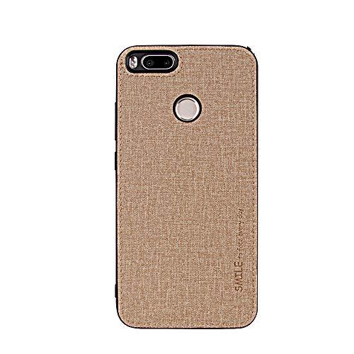 Carcasa para Xiaomi Mi A1 Tela Silicona Funda Protection Anti-Choque TPU Phone Case Cover Ultra-Delgado Caja del teléfono móvil Caso para Xiaomi Mi A1 (Dorado, Xiaomi Mi A1)