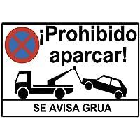 Cartel prohibido aparcar o placa prohibido aparcar. Esta Placa se avisa grua o cartel se avisa a grua está Fabricado en Forex PVC de 3mm de 30cm x 20cm. La placa prohibido aparcar se avisa a grua es un elemento muy alertante para evitar aparcamientos no deseados. Docliick DC-16091.