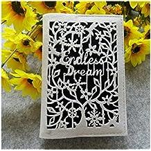 JxucTo Creativo Diario de funda de fieltro suave creativo y diarios para la oficina de la escuela en casa de viaje (Patrón aleatorio (negro)
