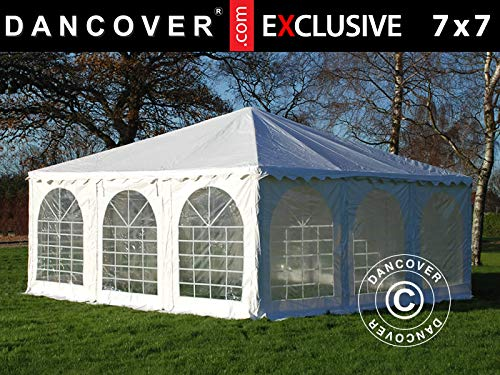 Dancover Pagodenzelt Exclusive 7x7m PVC, Weiß