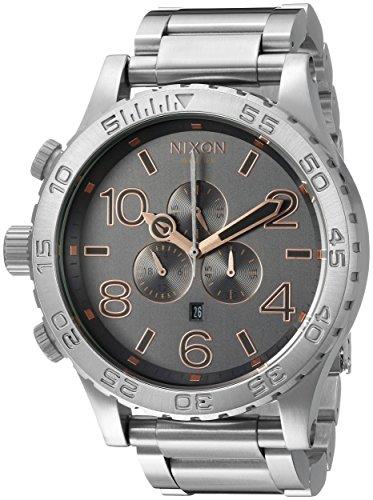 Nixon A0832064 - Reloj de pulsera hombre, acero inoxidable, color Plata