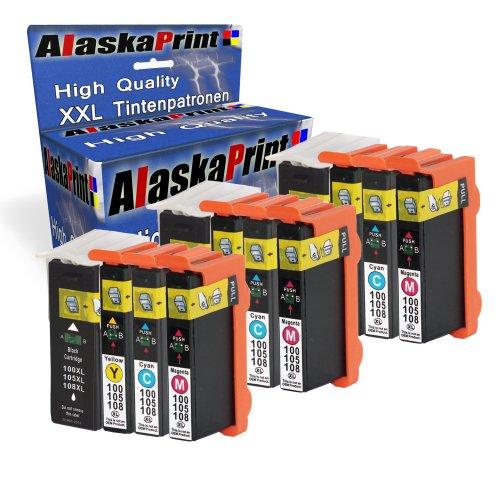 Preisvergleich Produktbild Alaskaprint 12er-Pack Kompatible Tintenpatronen Als Ersatz für Lexmark 100 XL (Schwarz , Cyan , Magenta , Gelb)