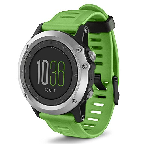 Fenix 3/Fenix 3 HR Watch Bracelet,SongNi®Sport Soft Silicone Replacement Watch Strap with Tools for Garmin Fenix 3/Fenix 3 HR(Green 1)