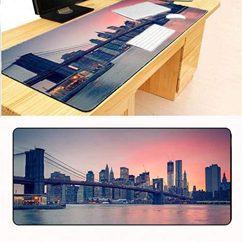 Erjiasan Tower Bridge Cooles Spiel Benutzerdefinierte Große Mauspad Overlock Kantenmatten Gummiauflage Gaming Schreibtisch Tischset,300X600X2MM