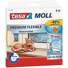 Tesa Moll - Burlete de silicona 6 m, transparente