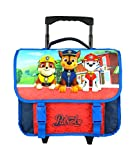 CARTABLE A ROULETTES 38CM BLEU MARINE-PAW PATROL NICKELODEON