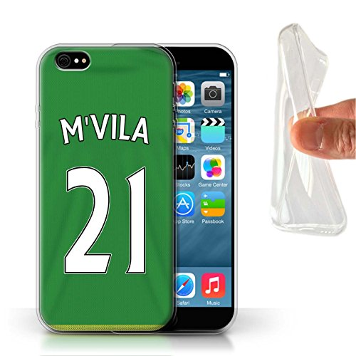 Offiziell Sunderland AFC Hülle / Gel TPU Case für Apple iPhone 6S / Pack 24pcs Muster / SAFC Trikot Away 15/16 Kollektion M'Vila
