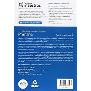 Cuerpo de Maestros Primaria. Temario Volumen 1 (Maestros 2015)