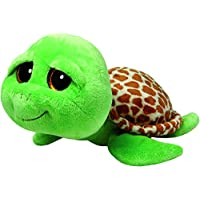 TY - Beanie Boos Zippy, peluche tortuga, 23 cm, color verde (United