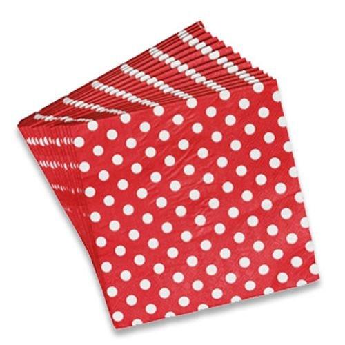 kraftz®–2x Pack de 20servilletas de papel con diseño de lunares, vajilla para fiesta de cumpleaños Decoración de eventos festivales bodas