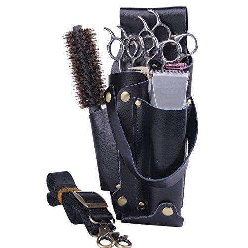 Cheveux Professionnel Ciseaux de coiffure Peigne Outil de cuir PU Pouch Holder Sac Message Sac