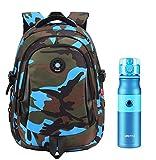 Lukis 2 Pcs Kinder Rucksack Schulrucksack Wasserflasche