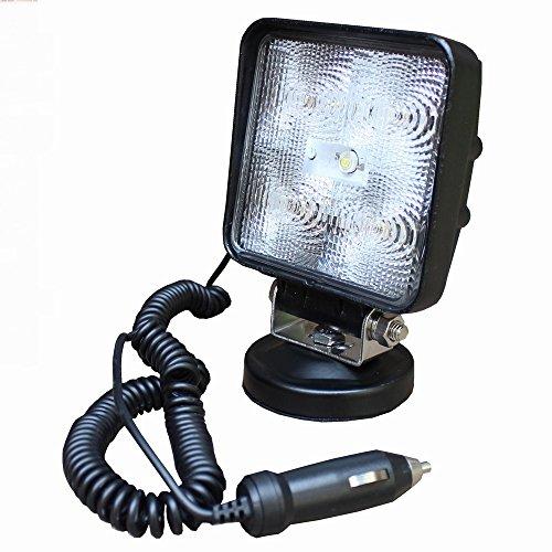 MCTECH 15W Quadrat LED mit Magnetfuß Offroad Flutlicht Reflektor Scheinwerfer Arbeitslicht SUV, UTV, ATV Arbeitsscheinwerfer Zusatzscheinwerfer Offroad Scheinwerfer 12V 24V Rückfahrscheinwerfer