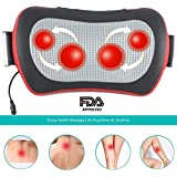GrinHealth Shiatsu 3D Kneading Massager with Heat and Vibrating Therapy For Cervical, Neck, Shoulder, Back Pain Relief