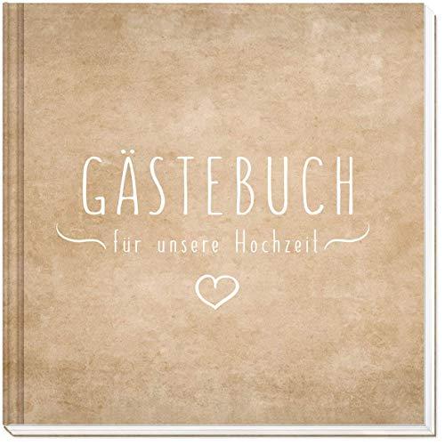 Sophies Kartenwelt Gästebuch Hochzeit - Hochwertiges Hardcover / 144 weiße Seiten / 21 x 21 cm/Hochzeitsgästebuch/Hochzeitsalbum/Hochzeitsbuch/Hochzeitsgeschenk