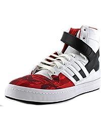 Adidas Foro Hi-blvck Scvle blanco / rojo / negro B34207 (tamaño: 8)