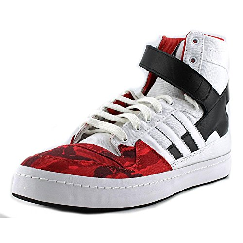 Forum Adidas Salut-BLVCK Scvle Blanc / rouge B34207 / noir (taille: 8) White/Red/Black
