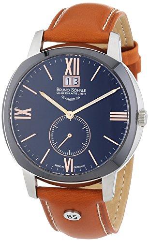 Bruno Söhnle Men's Watch Analogue XL Leather 17–73146–735 Quartz