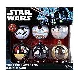Ufficiale Star Wars, Marvel e DC Comics palline di Natale 6PC Packs-scegliere tra 8stili disponibili in Multibuy set Star Wars: Il risveglio della Forza