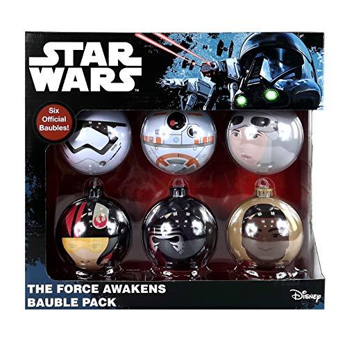 Weihnachtsbaumkugeln Star Wars, Marvel und DC Comics, 6 Packungen - 8 verschiedene Designs erhältlich Star Wars - Das Erwachen der Macht