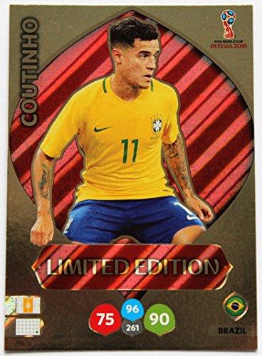 Panini Adrenalyn XL Coupe du Monde 2018 - Coutinho Brésil carte edition limité