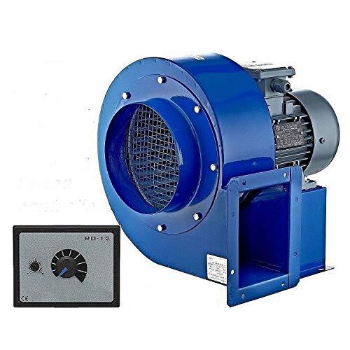 Uzman-Versand OBR-200M Radialgebläse mit 500W Regler, Radial Zentrifugalventilator Saugventilator Radiallüfter Ventilator Gebläse Absaugung Radialventilator