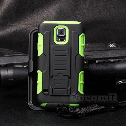 eac54dd7133 Cocomii Robot Armor Galaxy S5 Active Funda [Robusto] Funda Clip para  Cinturón Soporte Antichoque