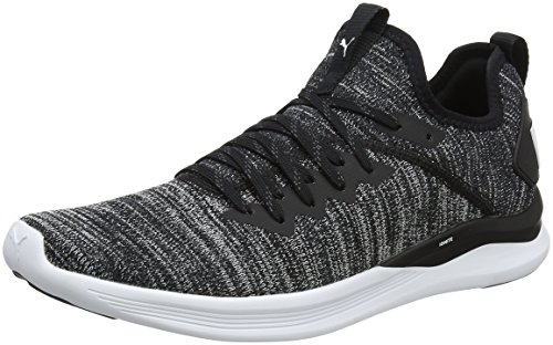 Puma Herren Ignite Flash Evoknit Cross-Trainer, Schwarz (Puma Black-Asphalt-Puma White 02), 42.5 EU - Männer Puma Sneakers