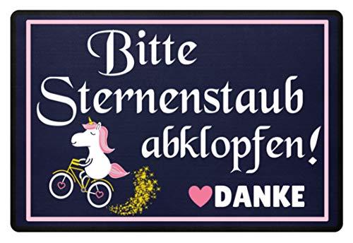 Einhorn Fußmatte · Einhörner · Fabelwesen · Glitzer · Fussmatte · Fabel · Unicorn · Pink ·...
