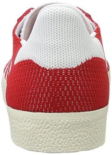 adidas Gazelle Primeknit, Sneakers Basses Homme, Bleu Rouge (Scarlet/footwear White/chalk White)