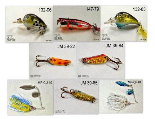 Akuna [NC] Pros' Pick Recommation Collection von Ködern für Barsch, Panfish, Forelle, Hecht und Wallalleye in North Carolina (Pan Fish 8-A) (Nc-pick)