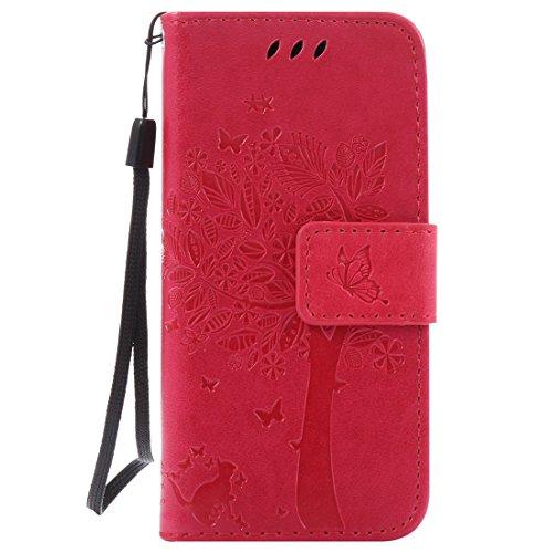 Nancen Compatible with Handyhülle iPod Touch 5/6 Flip Schutzhülle Zubehör Lederhülle mit Silikon Back Cover PU Leder Handytasche